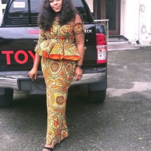 peplum top ankara and skirt