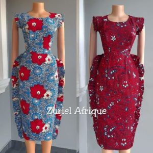 knee length ankara gown
