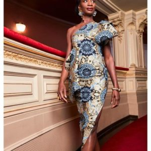 one hand ankara gown