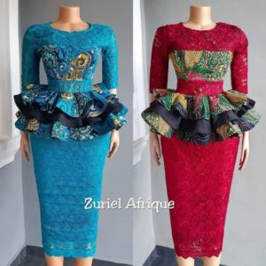peplum ankara skirt and blouse