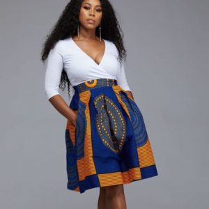 Ankara skirt with pocket