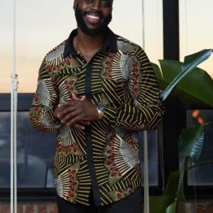 Ankara shirt for men
