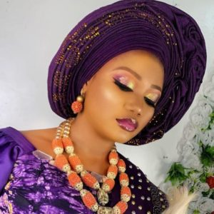 purple and gold gele