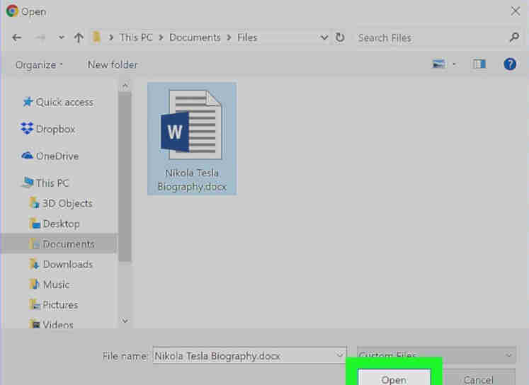 Word Document To PDF Using Google Drive
