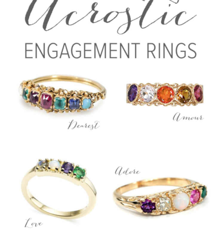 Acrostic Engagement Rings