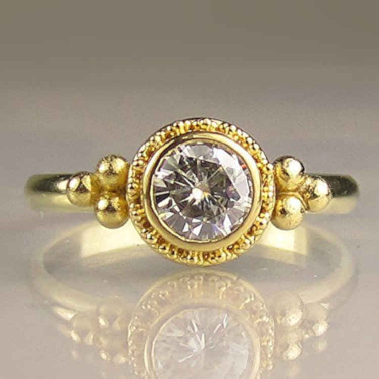 Granulated Engagement Rings