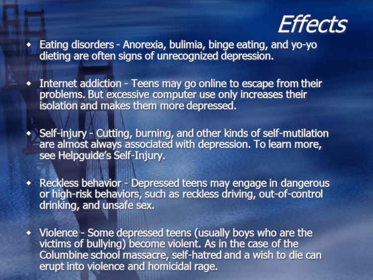 Effects Of Teens Depression