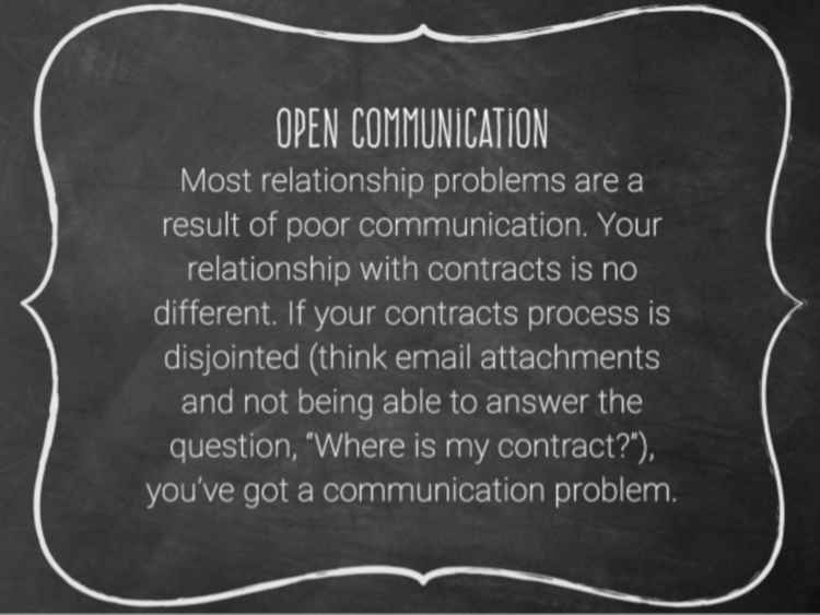 Be Open About Communication