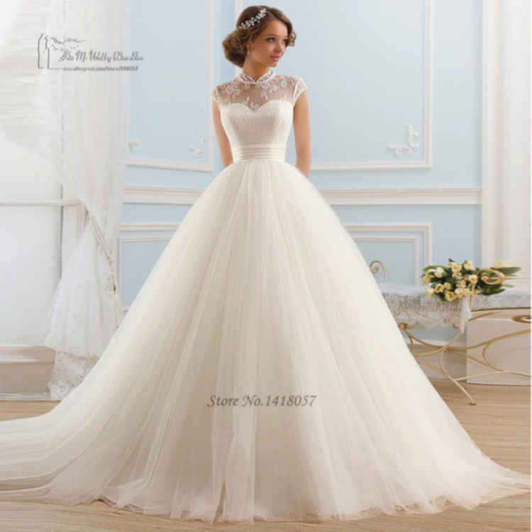 High Neck Wedding Dresses