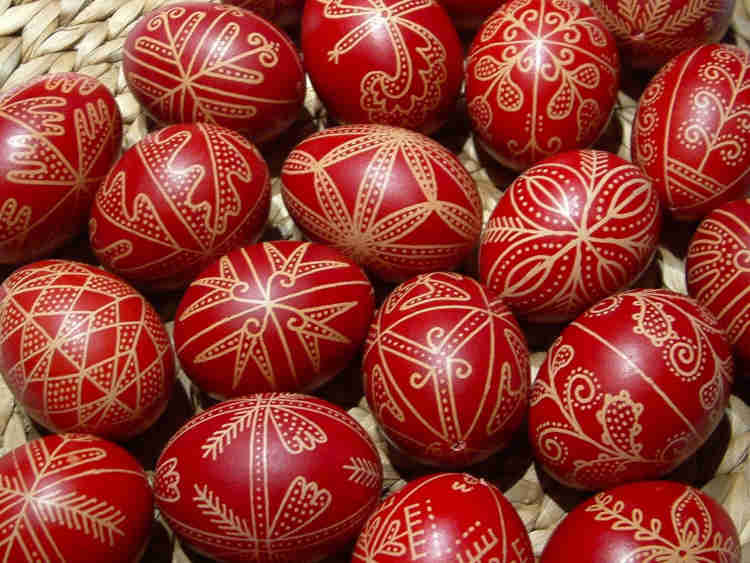 Eggs Painted In Red By Greece For Easter Celebration