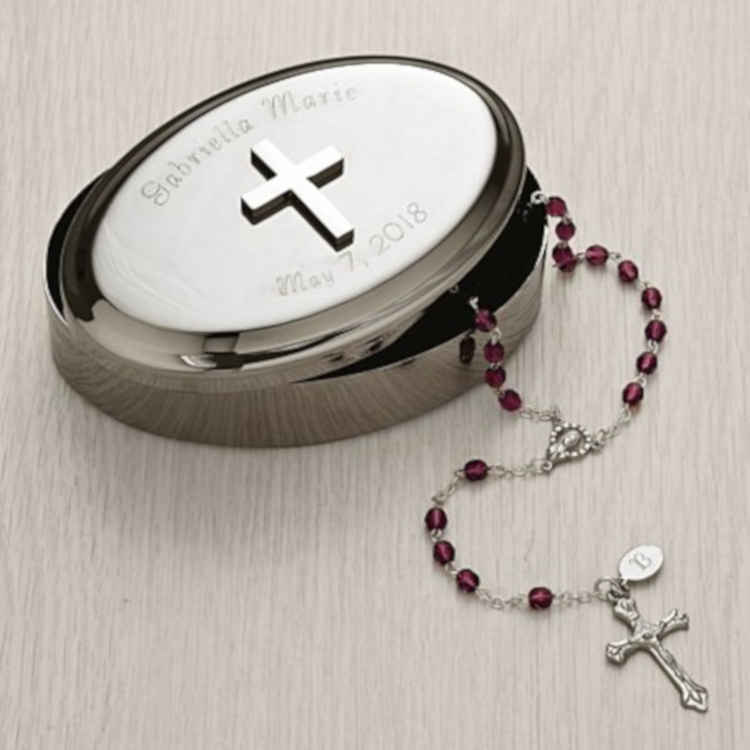 Silver Cross Keepsake Box