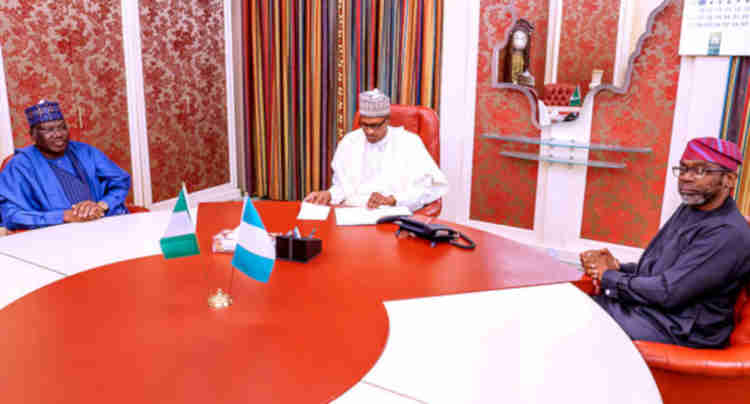 What Buhari Discussed With Senate President, Speaker Over Insecurity