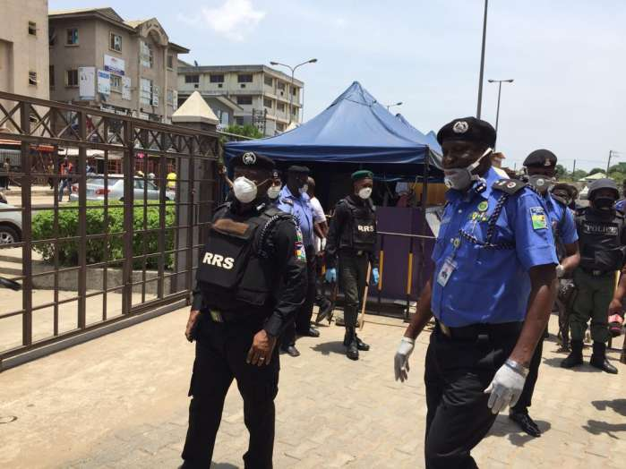Lagos State Commissioner of Police, Mr. Lagos Hakeem Odumosu, accompanied by Commander RRS Tunji Disu Thursday visited some markets and stores in Lagos 6