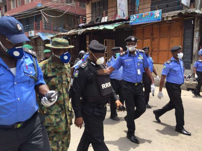 Lagos State Commissioner of Police, Mr. Lagos Hakeem Odumosu, accompanied by Commander RRS Tunji Disu Thursday visited some markets and stores in Lagos 5
