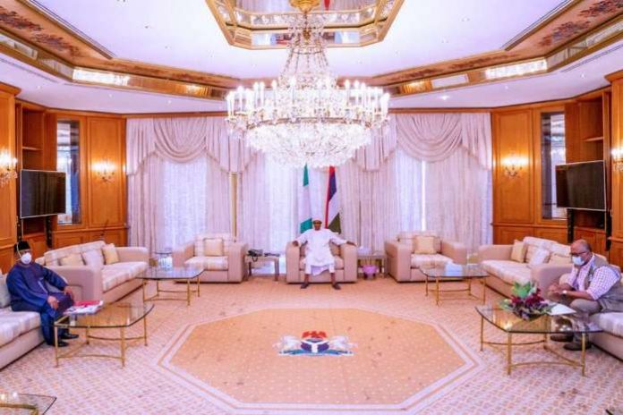 President Muhammadu Buhari and the Minister of Health, Prof Osagie Ehanire, have just rounded off a meeting at the State House, Abuja. 3
