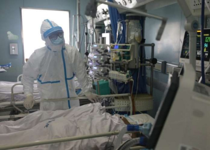 A medical doctor at an intensive care unit in a Wuhan hospital — coronavirus