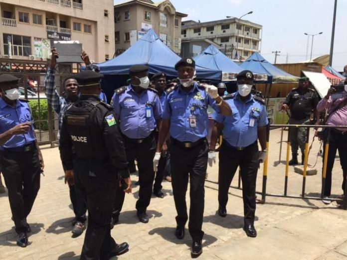 Lagos State Commissioner of Police, Mr. Lagos Hakeem Odumosu, accompanied by Commander RRS Tunji Disu Thursday visited some markets and stores in Lagos 2