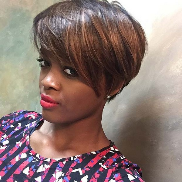 Brown Short Haircuts For Black Women