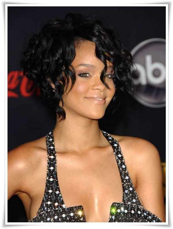 Short Hairstyles For Black Women Rihanna
