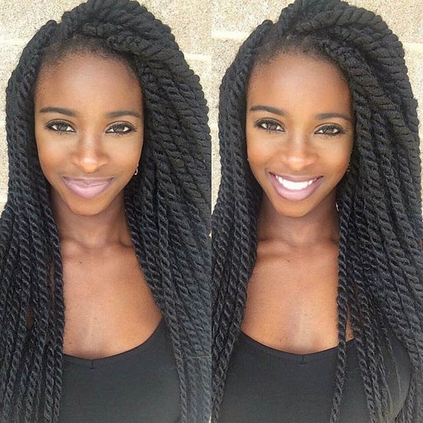 Twist Braids With Synthetic Kanekalon Hair