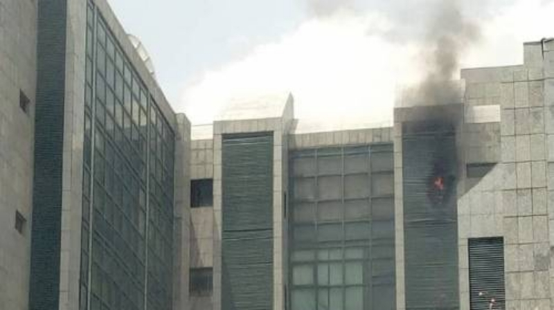 Corporate Affairs Commission building on fire