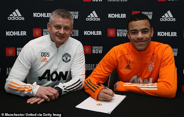 Manchester United striker, Mason Greenwood signs new four-year contract until 2025 (photos)
