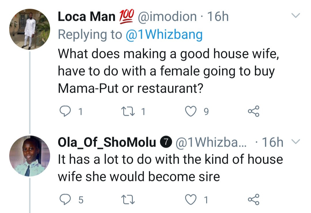 Man says single women who regularly eat in restaurants will not make good house wives
