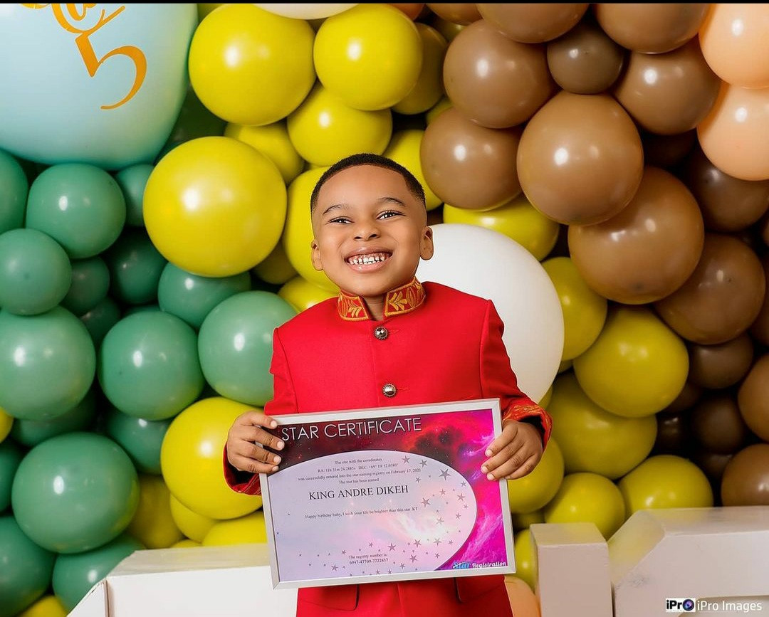 Tonto Dikeh registers a star in her son