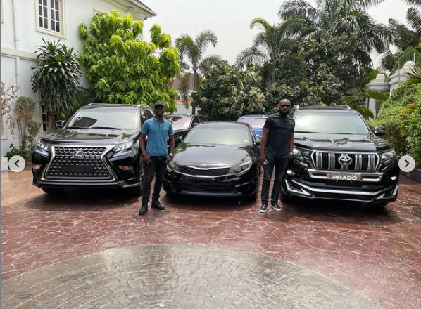 E-Money gifts his friends luxury cars on his birthday