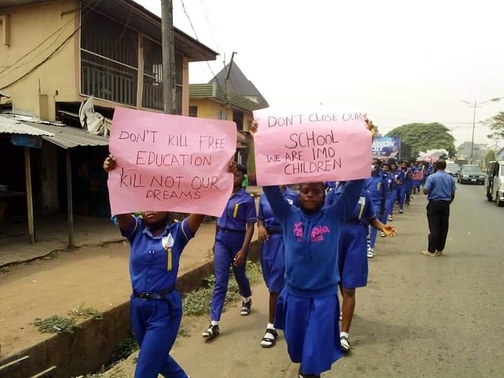 Students of Rochas Okorocha