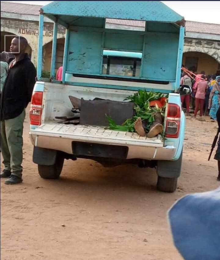 Photo: Body of the student shot dead by bandits while trying to escape during attack on Government Science College Kagara, Niger State