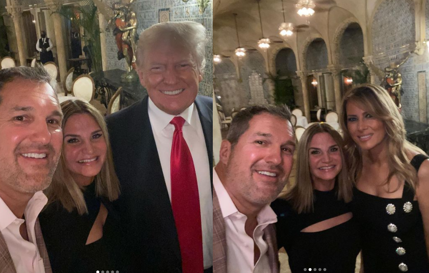 Donald Trump and wife Melania pictured for the first time since leaving the White House (photos)
