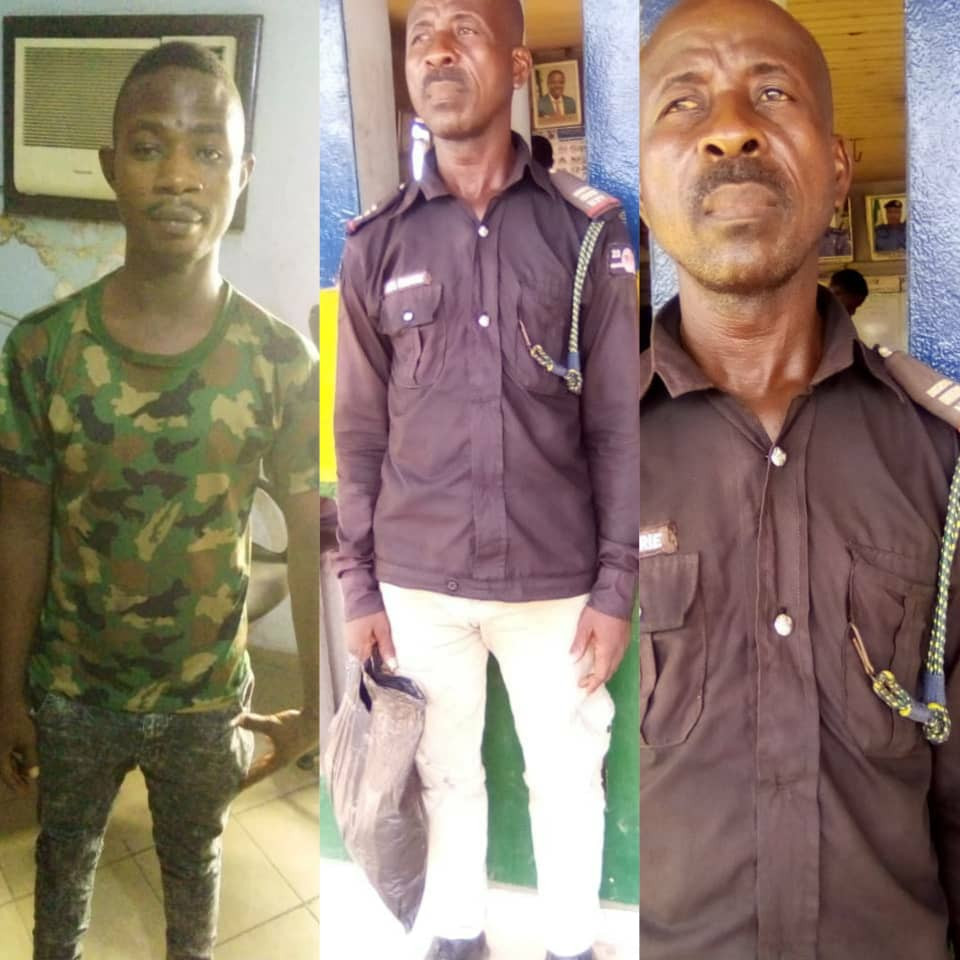 Fake soldier and police officer arrested in Lagos (photos)