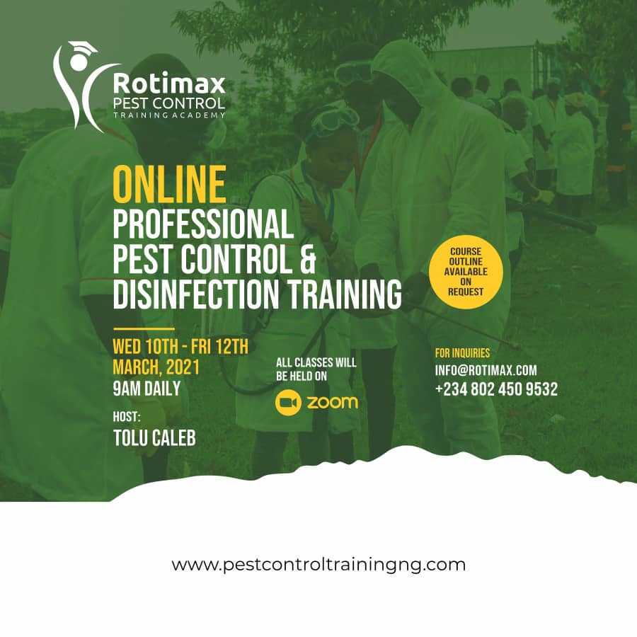 Professional and Practical Intentsive Pest Control and Disinfection Training