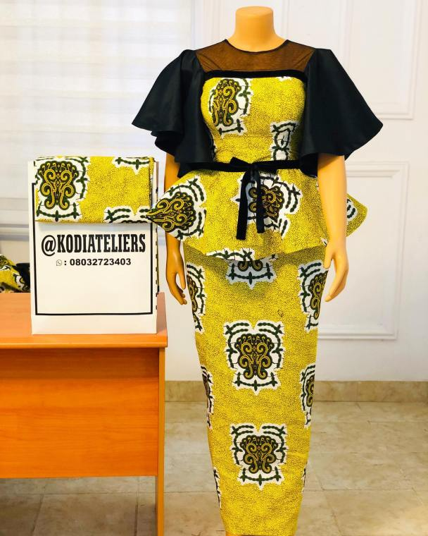 Top 17 Ankara Skirts and Blouse Styles: for Ladies 2021