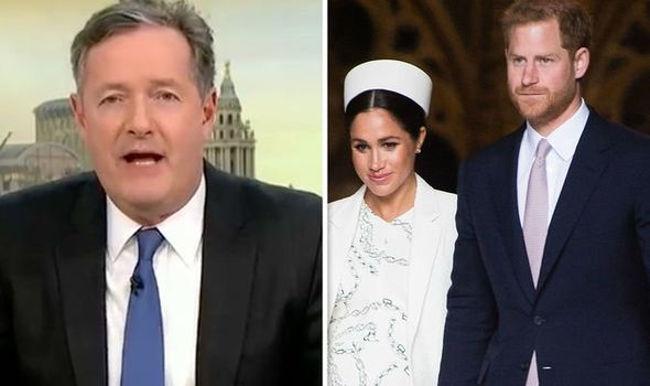 Piers Morgan, Prince Harry and Meghan Markle