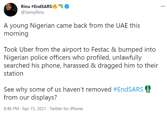 Nigerian man who arrived from Dubai recounts how police officers in Festac town extorted N200k from him shortly after arriving the country