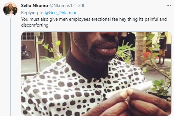 Opinions differ after lady and her hubby introduced paid menstrual leave for their staff