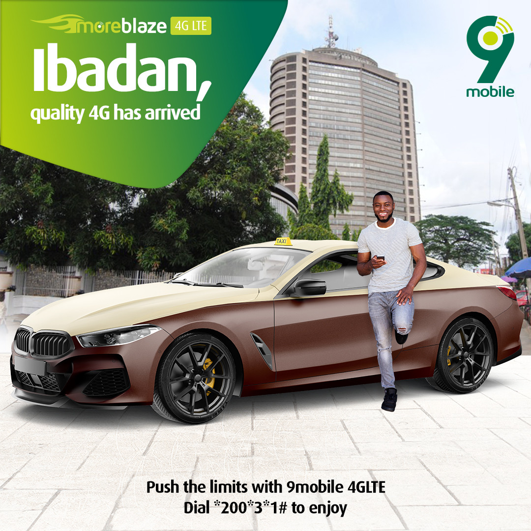 9mobile Introduces 4G LTE in Ibadan for highspeed data experience