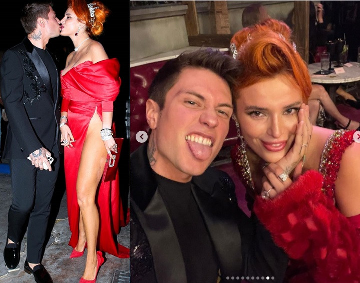 Actress, Bella Thorne and Benjamin Mascolo throw engagement party with family and friends (photos)
