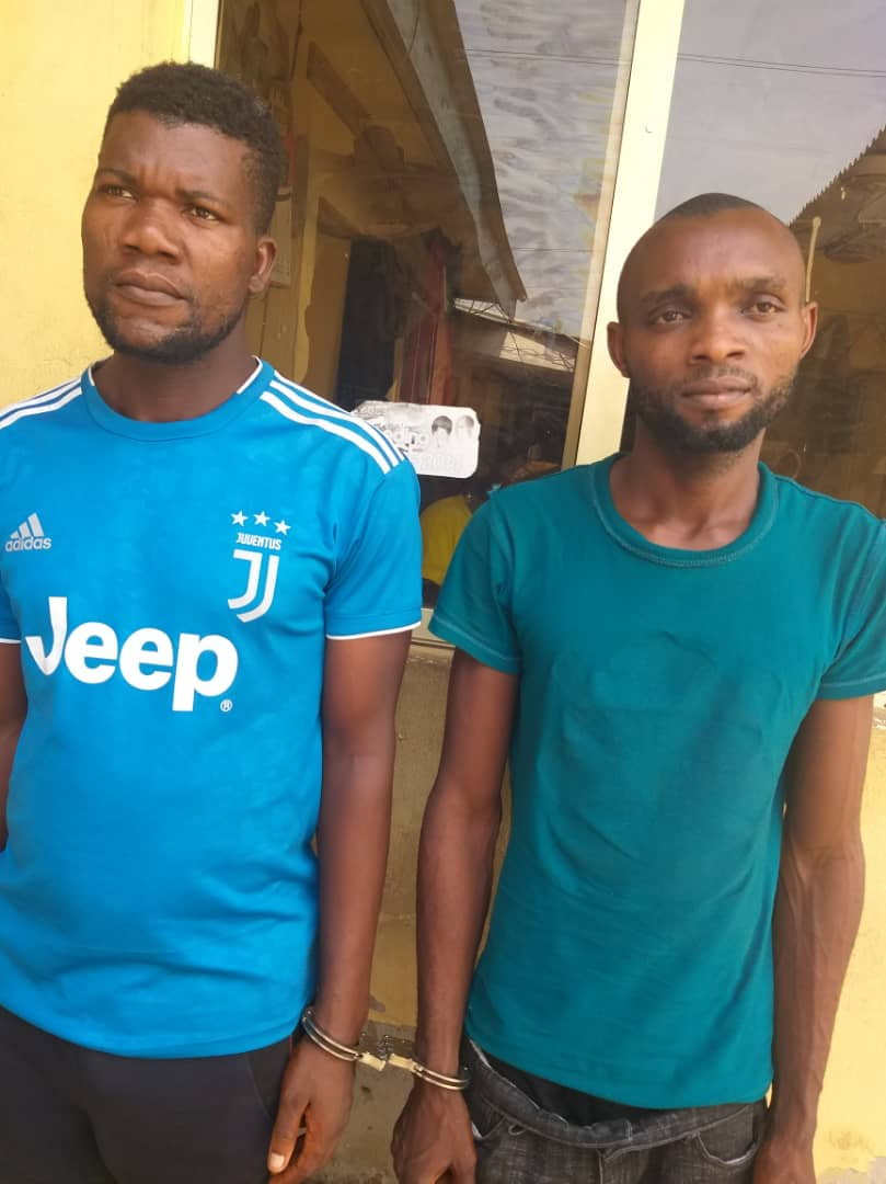 Two men arrested for allegedly diverting a company