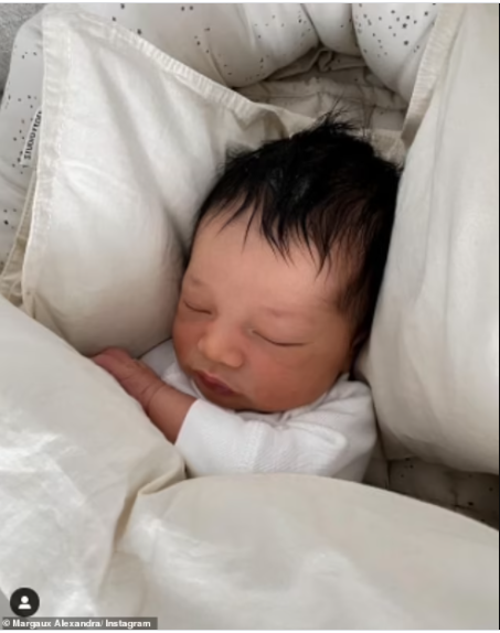 Manchester United legend, Patrice Evra and fianc?e Margaux Alexandra welcome first child together