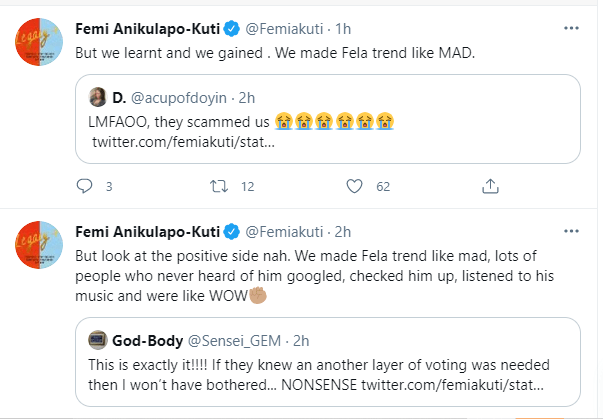 Femi Kuti Reacts To Fela's Loss In 2021 Rock And Roll Hall Of Fame KOKO TV NG.