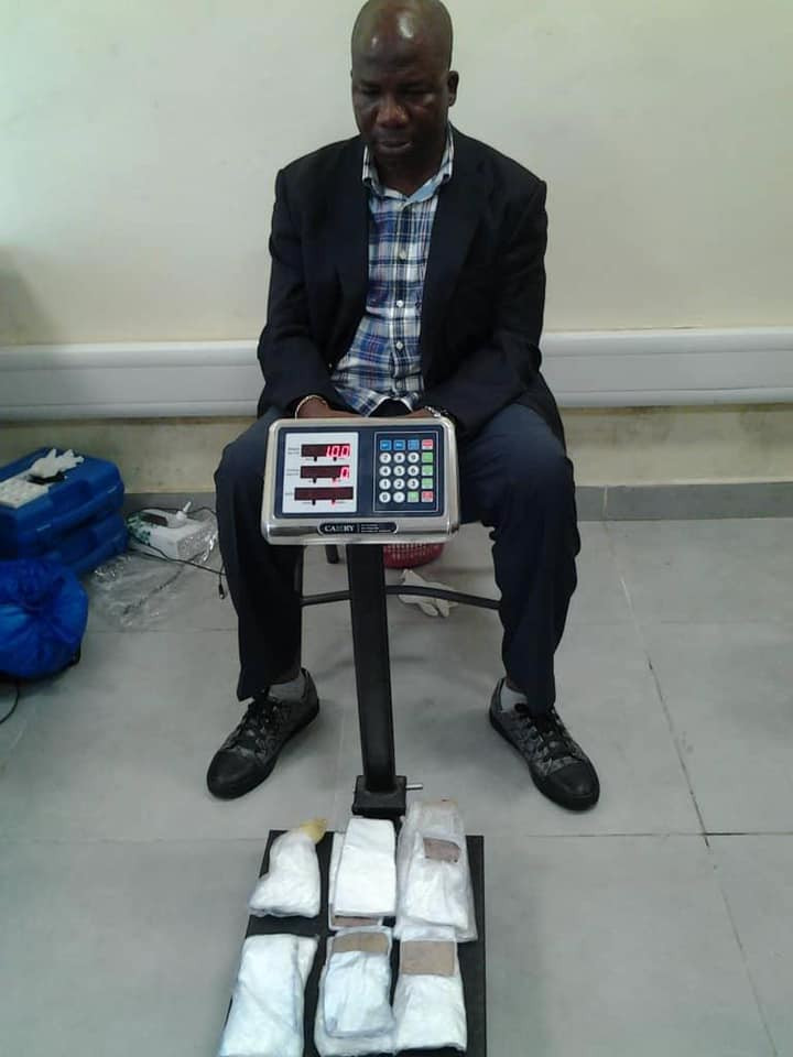 NDLEA arrests former Local Government Vice Chairman with cocaine concealed in pairs of slippers at Lagos airport