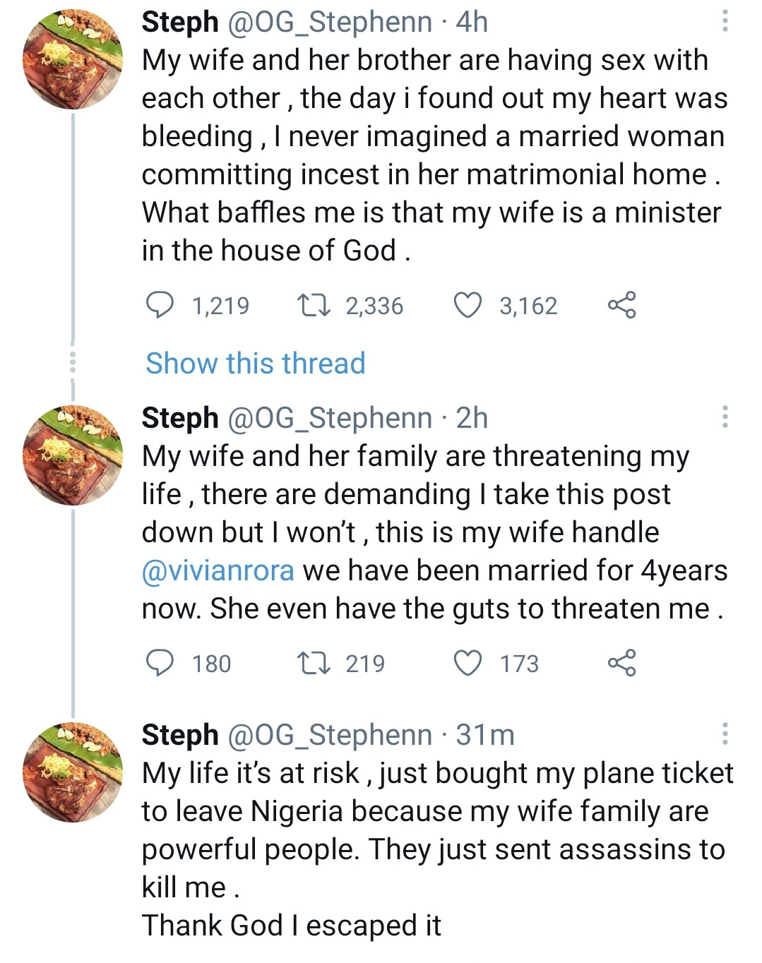 Man accuses his wife who is a pastor of having sex with her brother in their matrimonial home