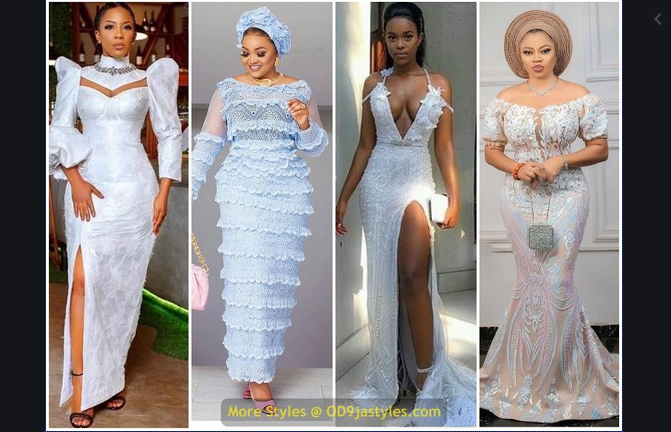Beautiful Lace Dresses,latest lace gowns 2020,