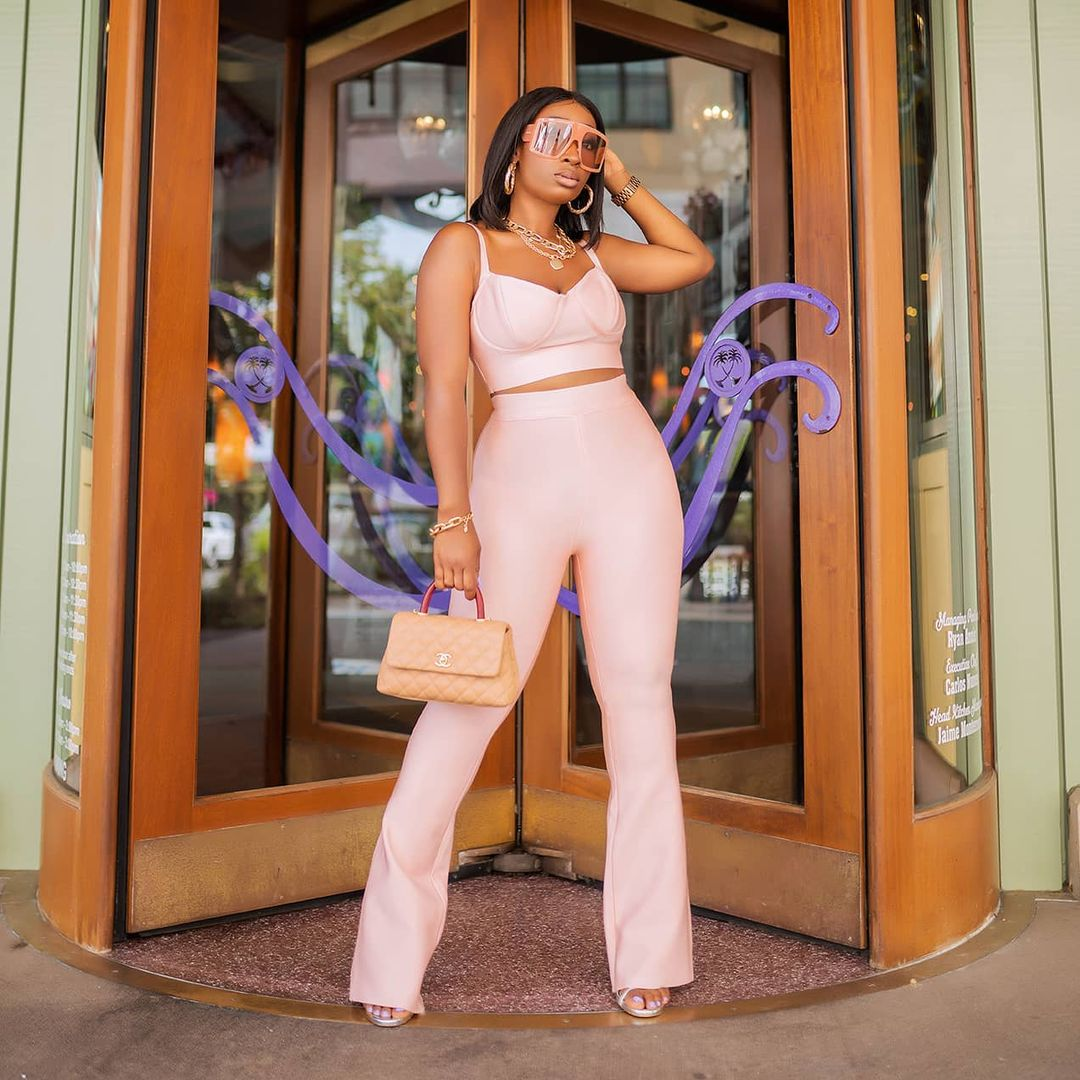 Chic Ama- Sassy In Two Piece Outfit